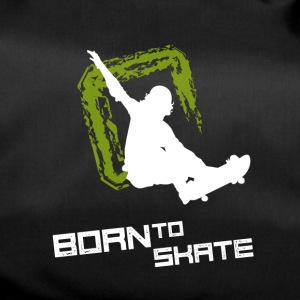 born to skate skateboard street halfpipe cool fun2 - Duffel Bag