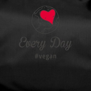 "Vegan T-Shirt ""Every Day # vegan"" (Slim Silver) - Duffel Bag"