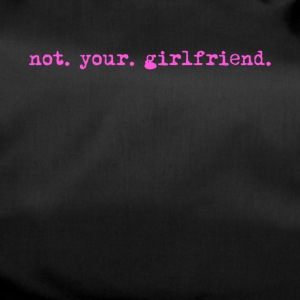Not your girlfriend, funny vintage typewriter - Duffel Bag