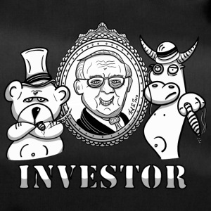 Bear and bull with Warren Buffet - real investors - Duffel Bag