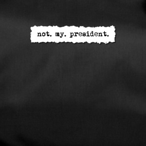 Not my president, newspaper torn page t shirt - Duffel Bag