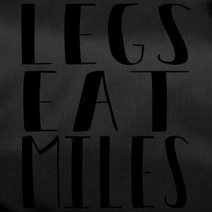 Legs eat miles - Running free - Duffel Bag