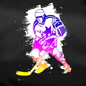hockey rainbow spatter hockey player tor cool - Duffel Bag