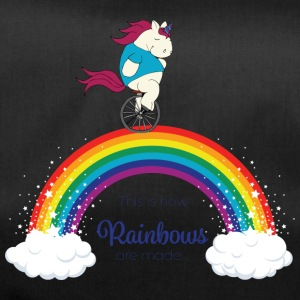 Faules Pummelhorn Einhorn | How rainbows are made - Sporttasche