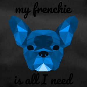 Low Poly Frenchie blue - Sporttasche