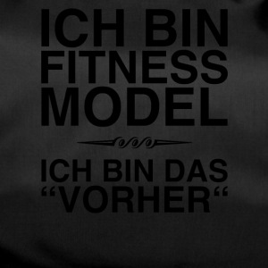 Fitness Model - I am the before (black) - Duffel Bag
