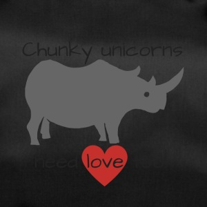 Funny unicorn workout T-shirt with rhino. - Duffel Bag