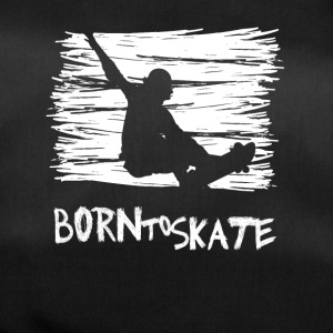 born to skate skateboard street halfpipe cool fun3 - Duffel Bag