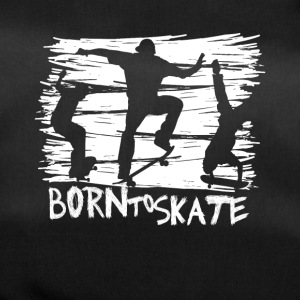 born to skate 3 skateboard halfpipe cool fun white - Duffel Bag