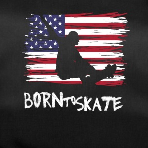 born to skate usa flag board halfpipe cool fun12 - Duffel Bag