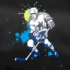 hockey splatter hockey player puck attack cool - Duffel Bag