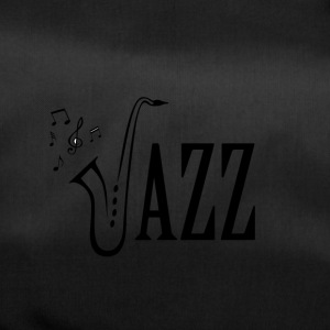 Cool jazz musik shirt, saxofon og Musical noter - Sportstaske