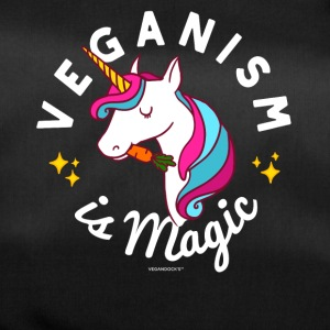 Vegan Unicorn T-shirt - Veganisme er Magic (blå) - Sportstaske