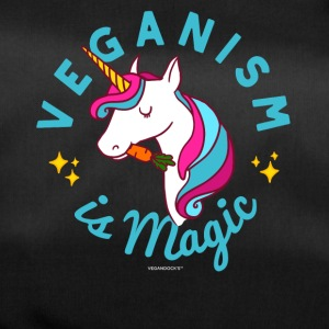 Vegan Unicorn TShirt - Veganism is Magic (Blue) - Duffel Bag