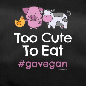 "Vegan Tshirt ""Too Cute at spise #GOVEGAN"" - Sportstaske"