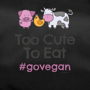 "Vegan Tshirt ""Too Cute to Eat #GOVEGAN"" - Duffel Bag"