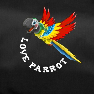 Parrot bird flying cute colorful babbling feather - Duffel Bag