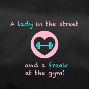 A lady in the street and a freak at the gym - Duffel Bag