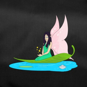 Fairy swims on a leaf in the pond - Duffel Bag