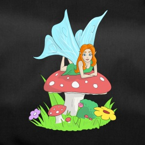 Fairy, elf lying on a fly's mushroom - Duffel Bag