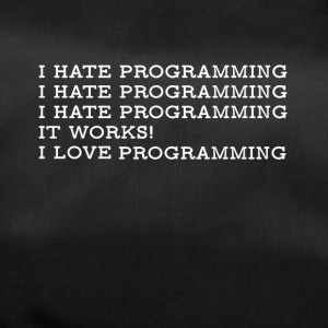 PROGRAMMING HATE LOVE4500x5400 w - Duffel Bag