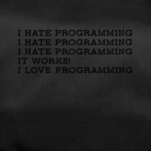 I Hate / I Love Programming T-Shirt - Duffel Bag