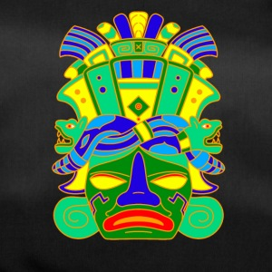 Mayan Mask with Serpent Head Piece / Hat - Duffel Bag