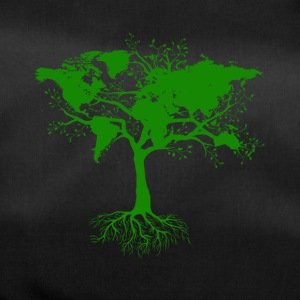 Tree with world maps green - Duffel Bag