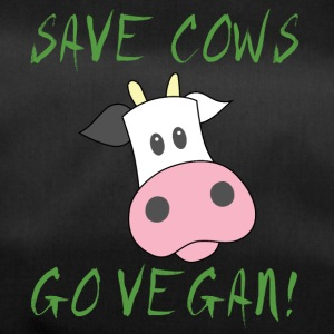 Cow / Farm: Save Cows. Go Vegan! - Duffel Bag
