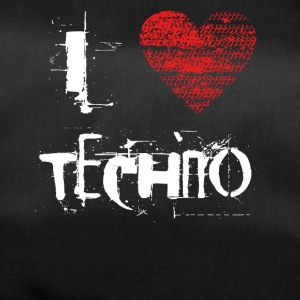 I love techno rave goa hardtek hard - Duffel Bag