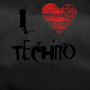 I love techno rave goa hardtek black - Duffel Bag