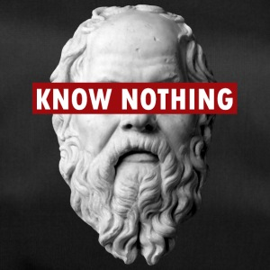 KNOW NOTHING SOCRATES - Duffel Bag