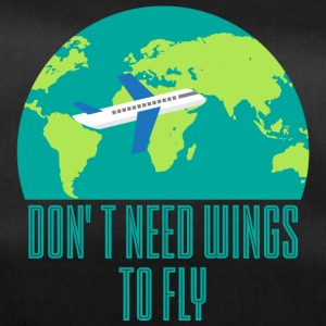 Pilot: Don't need wings to fly. - Duffel Bag