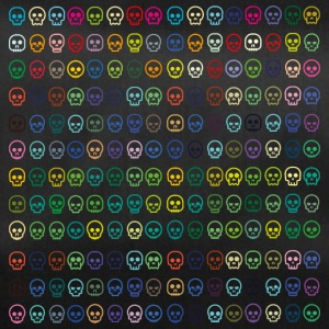 skulls skulls colorful summer bones - Duffel Bag