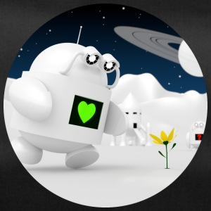 Cute robot finder blomster - Sportstaske
