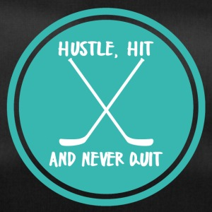 Hockey: Hustle, Hit and never quit. - Duffel Bag