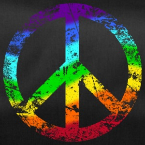 Peace sign Pace Peace Rainbow Grunge colorful - Duffel Bag