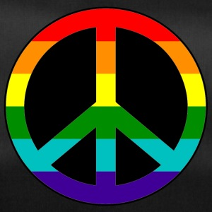 Peace Love and Happiness in rainbow colors - Duffel Bag