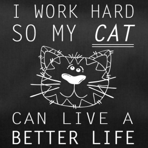 I work hard for my cat funny sayings - Duffel Bag