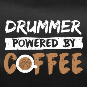 Drummer supported by coffee funny saying - Duffel Bag
