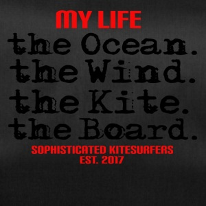 MY LIFE - the ocean the wind the kite the board - Duffel Bag
