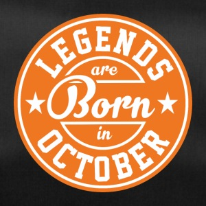 Legends October born birthday gift birth - Duffel Bag
