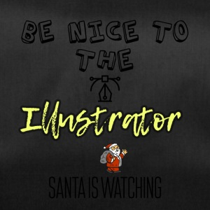 Be nice to the illustrator Santa is watching - Duffel Bag