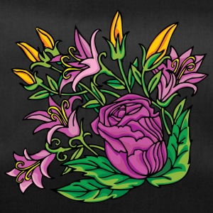 1purple flowers - Duffel Bag