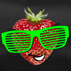horny strawberry strawberry cool sunglasses Hipste - Duffel Bag