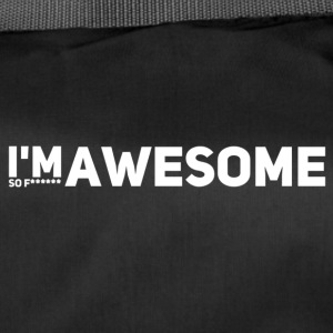i'm so f* awesome weiss - Sporttasche