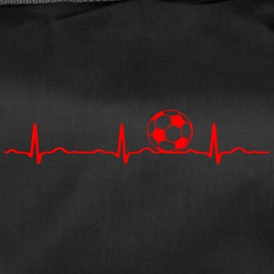 ECG HEARTBEAT le football rouge - Sac de sport