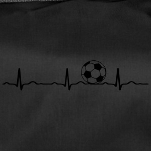 ECG HEARTBEAT le football noir - Sac de sport
