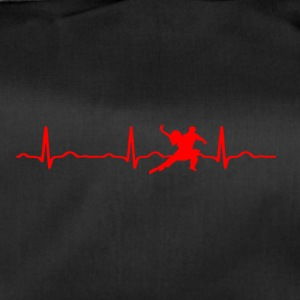 ECG HEARTBEAT DANCING red - Duffel Bag