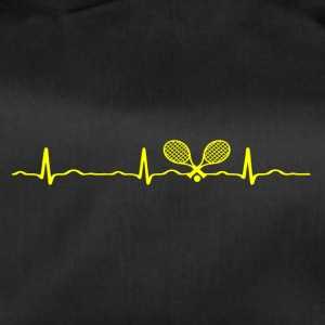 ECG HEARTBEAT TENNIS yellow - Duffel Bag